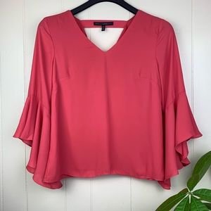 WHBM   Coral Bell Sleeve w/ Cut Out Cowl Back - 8P